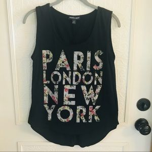About A Girl Black Sleeveless Top